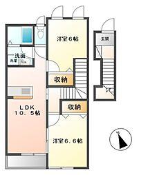 I.RoomII[2階]の間取り