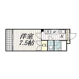 フローラ・21[302号室]の間取り