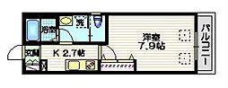 小田急小田原線 下北沢駅 徒歩10分の賃貸マンション 1階1Kの間取り
