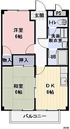 長野県長野市合戦場3丁目の賃貸アパートの間取り