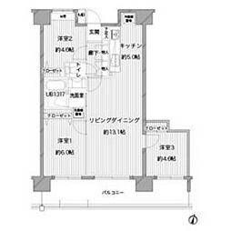 スターフィールド浦和常盤[11階]の間取り
