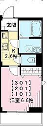 東急池上線 荏原中延駅 徒歩3分の賃貸マンション 1階1Kの間取り