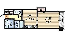 リアライズ堺駅前[4階]の間取り