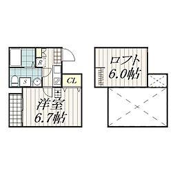 COSMOS2(コスモスツー)[1階]の間取り
