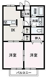 埼玉県和光市南1丁目の賃貸アパートの間取り
