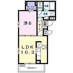 Osaka Metro御堂筋線 なかもず駅 徒歩10分の賃貸アパート 1階1LDKの間取り