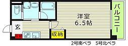 CASA MIA カーサミーア 2階1Kの間取り