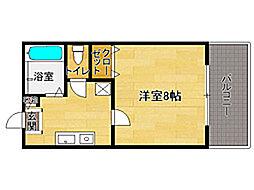 セントリーフ南片江[2階]の間取り