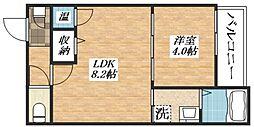 DOAHN加美正覚寺 2階1LDKの間取り