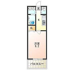 レクラン七道[6階]の間取り
