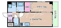 JR東海道・山陽本線 吹田駅 徒歩5分の賃貸マンション 4階1LDKの間取り