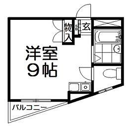 大阪府枚方市津田西町1丁目の賃貸マンションの間取り