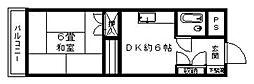 エステート芳賀大手門[6階]の間取り
