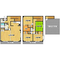 鎌倉2丁目アパート[2F-3F号室]の間取り