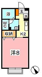 マーチ B棟[103号室]の間取り