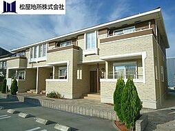 愛知県豊橋市大岩町字小山塚の賃貸アパートの外観