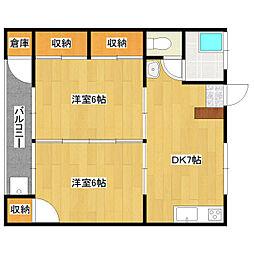 第1石川アパート[201号室]の間取り