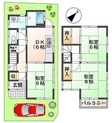 [一戸建] 東京都八王子市横川町 の賃貸【東京都 / 八王子市】の間取り