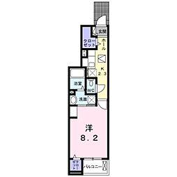 東武野田線 大和田駅 3.3kmの賃貸アパート 1階1Kの間取り
