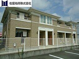 愛知県豊橋市下地町字瀬上の賃貸アパートの外観