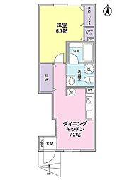 プレジール駒沢[1階]の間取り