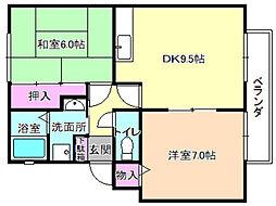 プライムガーデン2[1階]の間取り