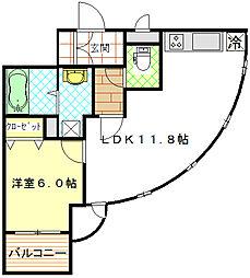 ソルクレストK弐番館[2階]の間取り
