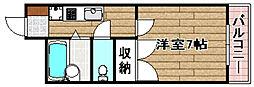 JR東海道・山陽本線 摂津富田駅 3.1kmの賃貸マンション 3階1Kの間取り