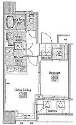 JR山手線 大塚駅 徒歩10分の賃貸マンション 9階1LDKの間取り