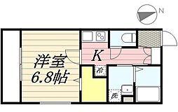ISLA綱町 旧:(仮称)港区三田2丁目計画 2階1Kの間取り