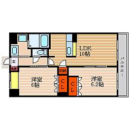 滋賀県彦根市野田山町の賃貸マンションの間取り