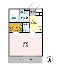 The Ritz TAKANO[3階]の間取り