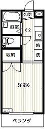 リエス西国分寺[1階]の間取り