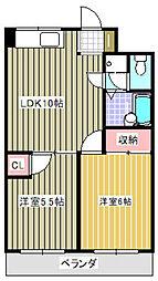 橘センタービル[5階]の間取り