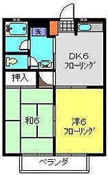 コーポNK[202号室]の間取り