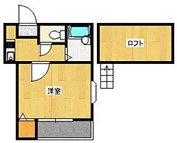 ハーモニー姪浜 弐番館[102号室]の間取り