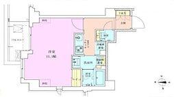 広尾レジデンス壱番館 3階1Kの間取り