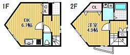 [一戸建] 東京都中野区南台5丁目 の賃貸【/】の間取り