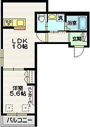 (仮称)下目黒3丁目メゾン 3階1LDKの間取り