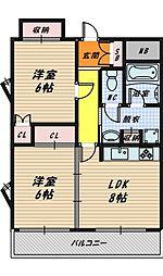 コートフォルム城東[3階]の間取り