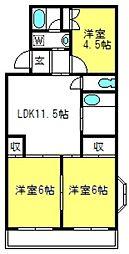 メゾン・松本[201号室]の間取り