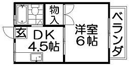 パナハイツ翠香[2階]の間取り