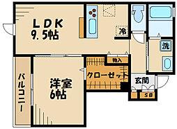 (仮称)矢崎町計画 1階1LDKの間取り