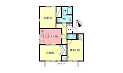 サンモール都筑A[2階]の間取り