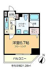 GENOVIA綾瀬skygarden 9階1Kの間取り