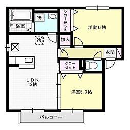 グランドハイツA棟[1階]の間取り