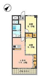 愛知県名古屋市名東区神丘町1丁目の賃貸マンションの間取り