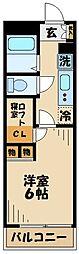 レオパレスヒルトップ壱番館[2階]の間取り