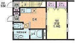 Comfort Sakura[1階]の間取り
