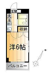 ベルビー川崎[5階]の間取り